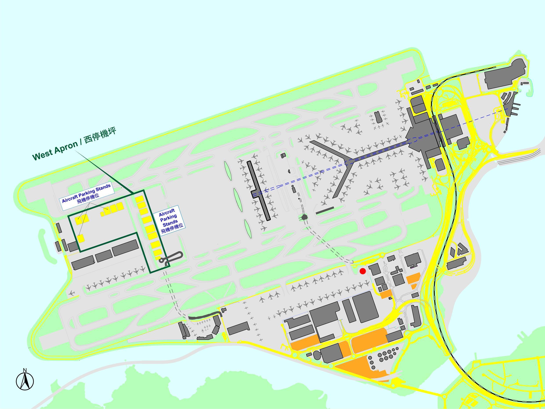 HKIA map - Hong Kong international airport map (China)