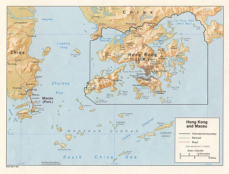 Hong Kong Macau Map Map Of Hong Kong And Macau China - Macau map