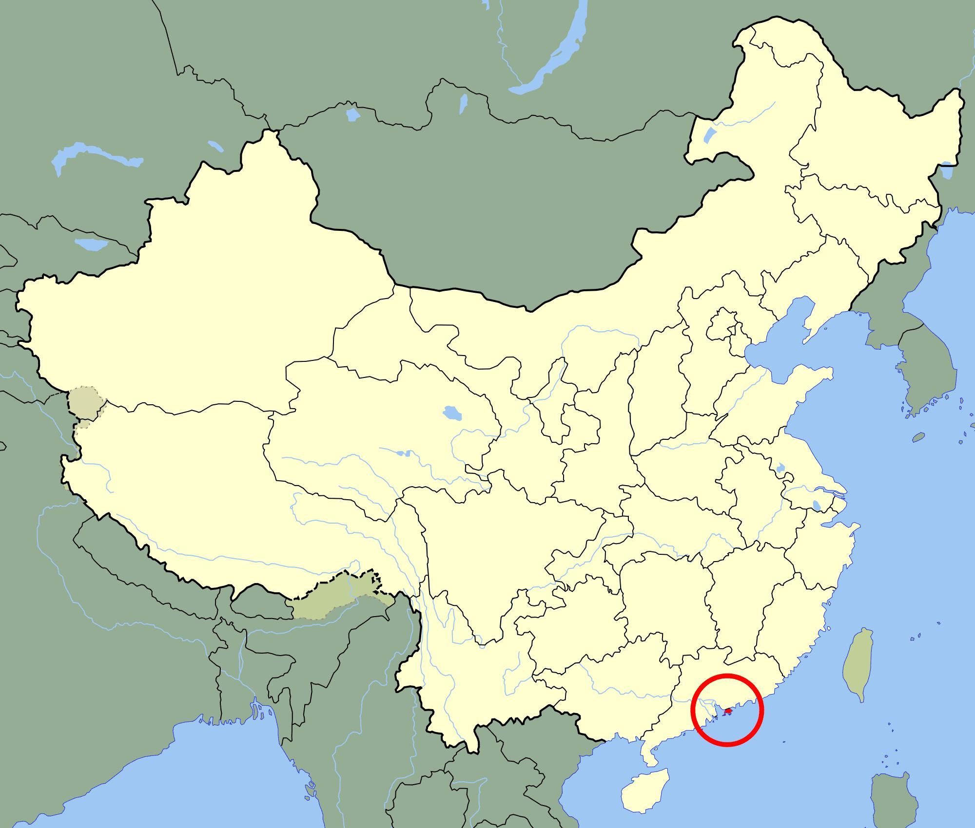 Karte China Hong Kong.Hong Kong On Map Hongkongmap China