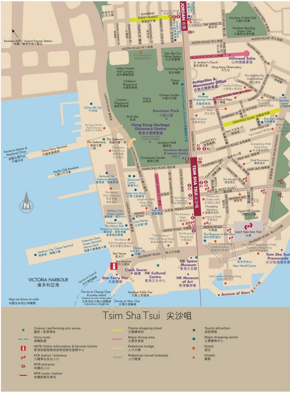 Hong Kong map Kowloon Map of Kowloon