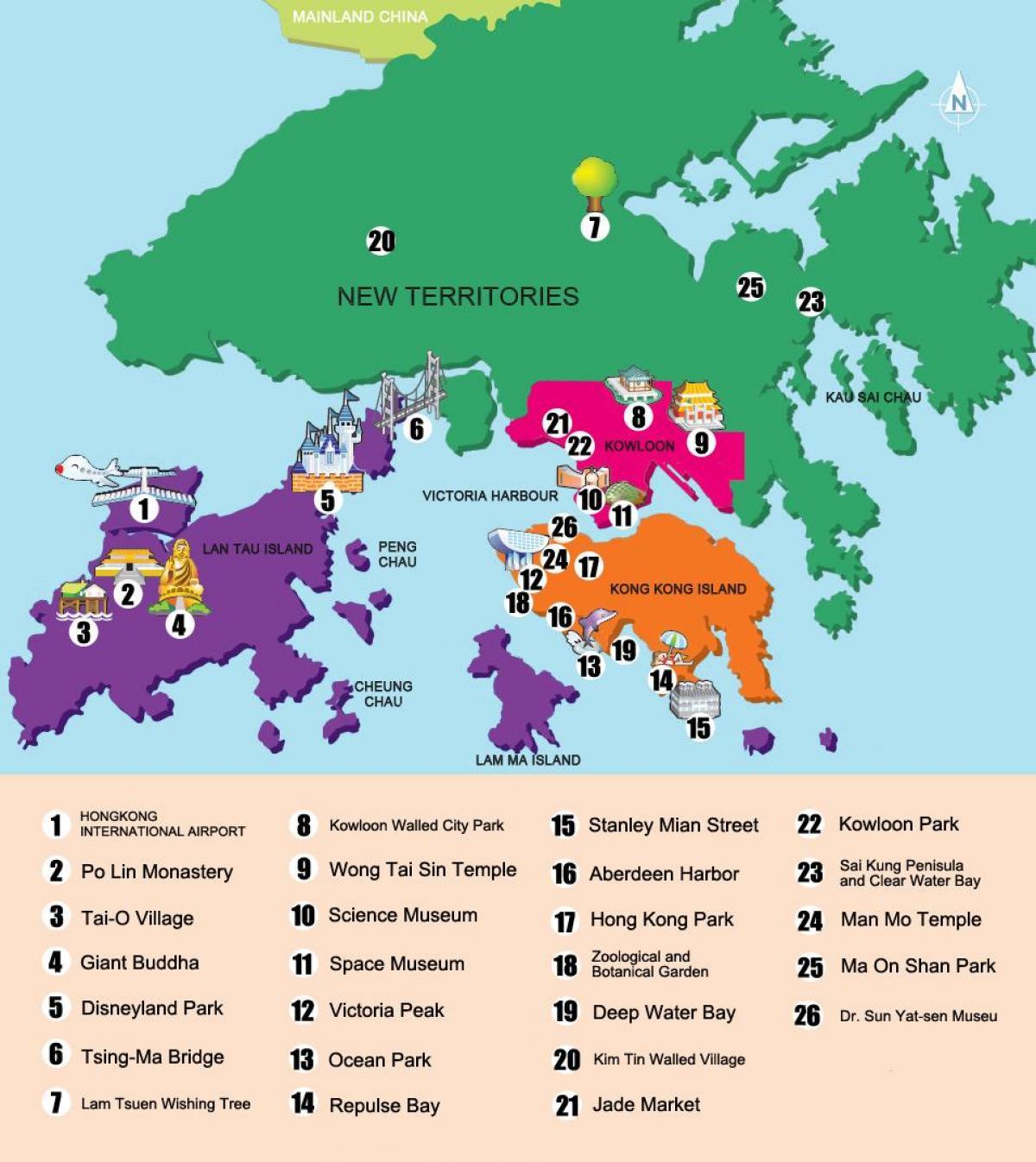 New territories Hong Kong map Map of new territories Hong Kong China